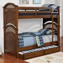 Coaster Halsted Twin over Twin Bunk Bed - Item Number: 461084
