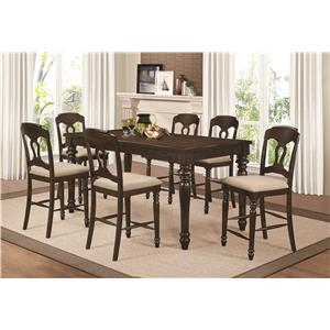 Coaster Hamilton 7 Piece Counter Height Dining Set