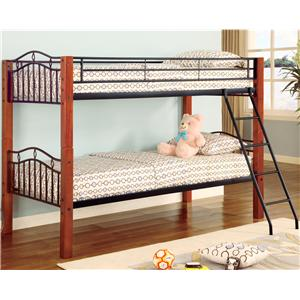 Coaster Haskell Twin Bunk Bed
