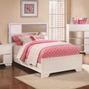 Coaster Havering Contemporary Full Bed With LED Lighted Headboard