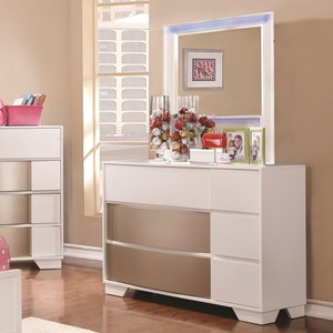Coaster Havering Dresser and Mirror Set