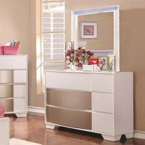 Coaster Havering Dresser and Mirror Set
