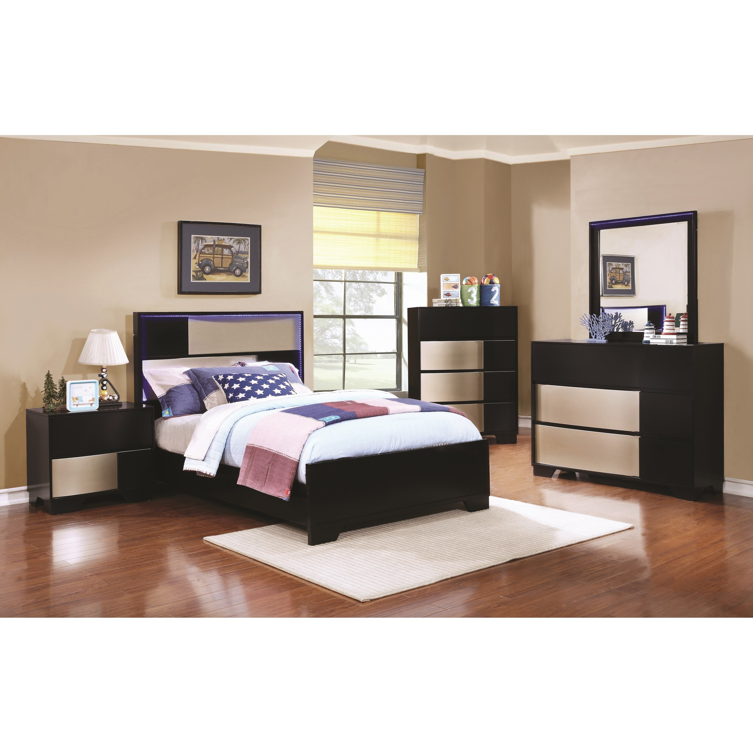Coaster Havering Twin Bedroom Group - Item Number: 40087 T Bedroom Group 1