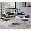 Coaster Healy 5-Piece Dining Table Set - Item Number: 121241+4x190712