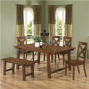 Coaster Lawson 6 Piece Dining Set