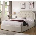 Coaster Hermosa Easteren King Upholstered Bed - Item Number: 301469KE