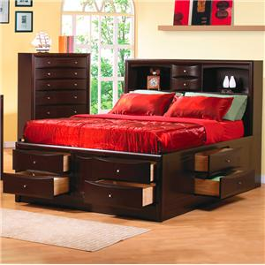 Coaster Phoenix Queen Bookcase Bed
