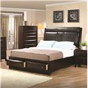 Coaster Phoenix King Upholstered Storage Platform Bed - 200419KE - Bed Shown May Not Represent Size Indicated