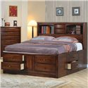 Coaster Hillary and Scottsdale Contemporary Queen Bookcase Bed with Underbed Storage Drawers - 200609Q