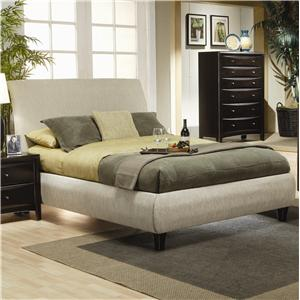coaster phoenix queen upholstered bed - Bed Frames San Diego