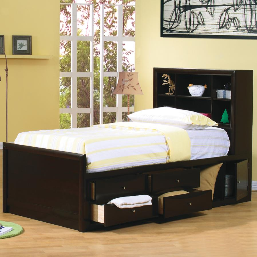 Coaster Phoenix Full Bookcase Bed with Underbed Storage ...