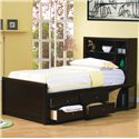 Coaster Phoenix Full Bookcase Bed with Underbed Storage - 400180F - Bed Shown May Not Represent Size Indicated