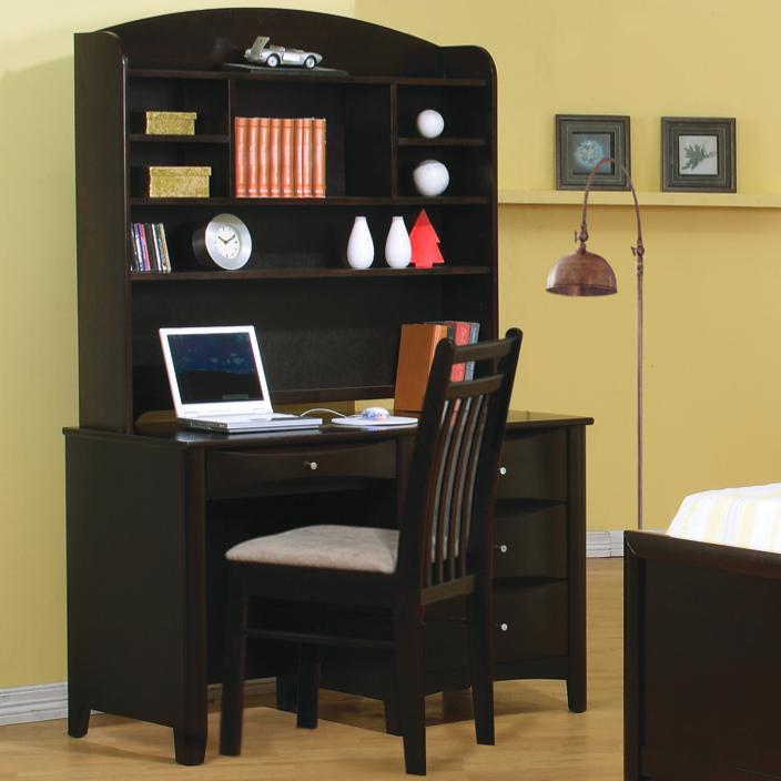 Coaster Phoenix Desk and Hutch - Item Number: 400187+8