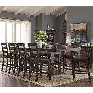 Coaster Holbrook 11 Piece Table and Chair Set