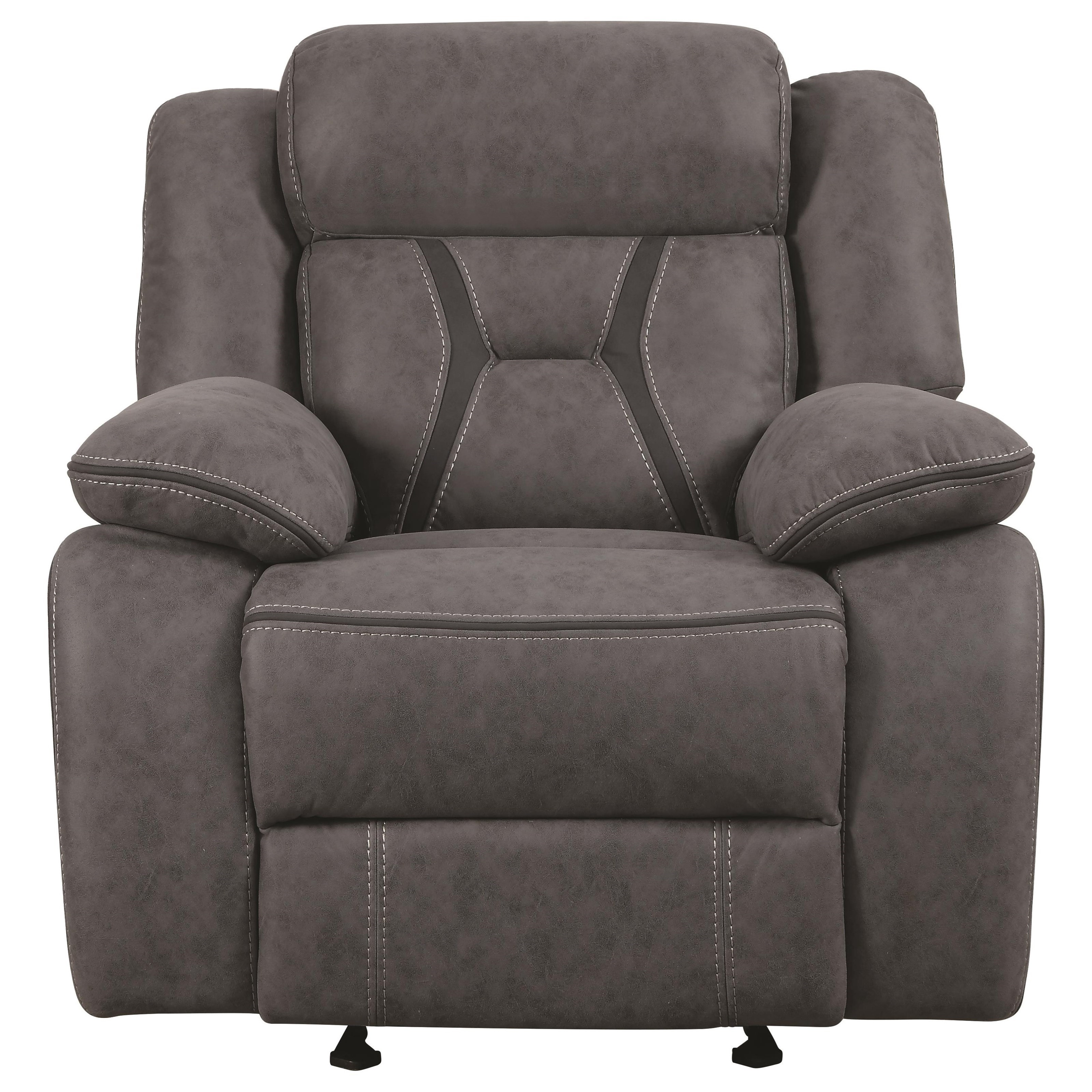 City Furniture Houston: Coaster Houston Casual Pillow-Padded Glider Recliner With