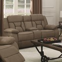 Coaster Houston Motion Loveseat With Console - Item Number: 602265