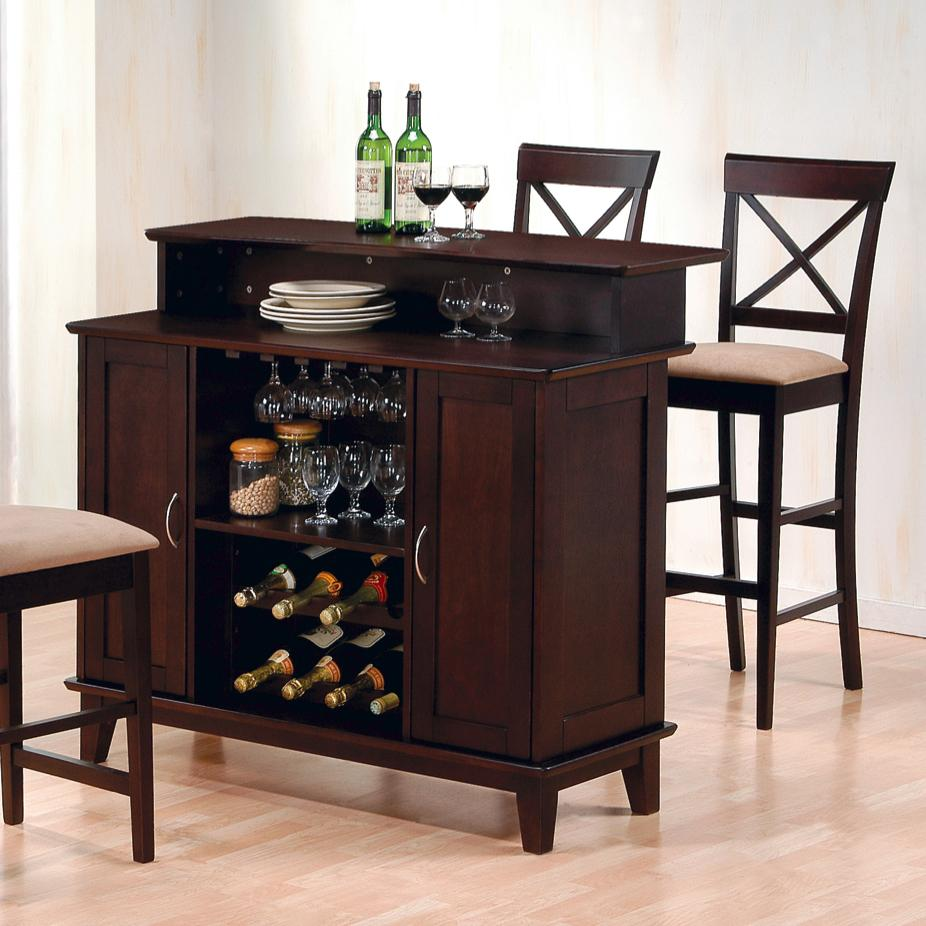 Coaster Carone Contemporary Glam Dining Room Set With: Fine Furniture Mix & Match 100218 Contemporary Bar With