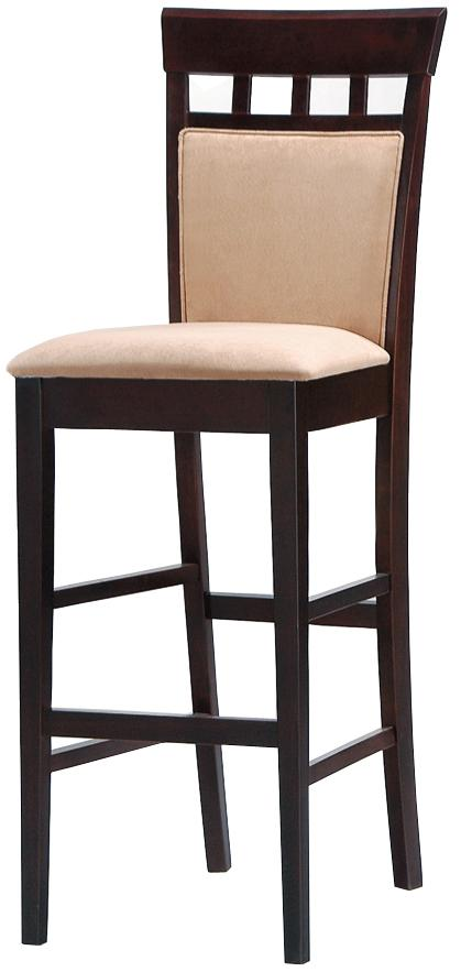 coaster mix match 30 upholstered panel back bar stool with fabric seat dream home furniture. Black Bedroom Furniture Sets. Home Design Ideas