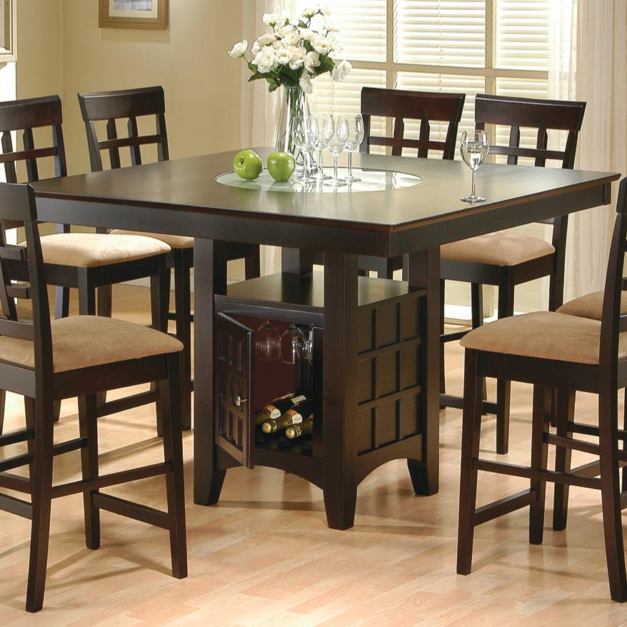 Coaster Mix Match 100438 Counter Height Dining Table With Storage
