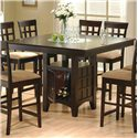 Coaster Mix & Match Counter Height Dining Table with Storage Pedestal Base - 100438