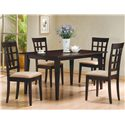 Coaster Mix & Match Rectangle Leg Dining Table - 100771 - Shown with Wheat Back Chairs