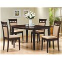 Coaster Mix & Match Rectangle Leg Dining Table - 100771 - Shown with UPL Back Chairs