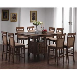 Coaster Mix & Match 9 Piece Counter Height Dining Set