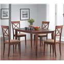 Coaster Mix & Match Cross Back Dining Chair with Fabric Seat - Shown with Dining Table