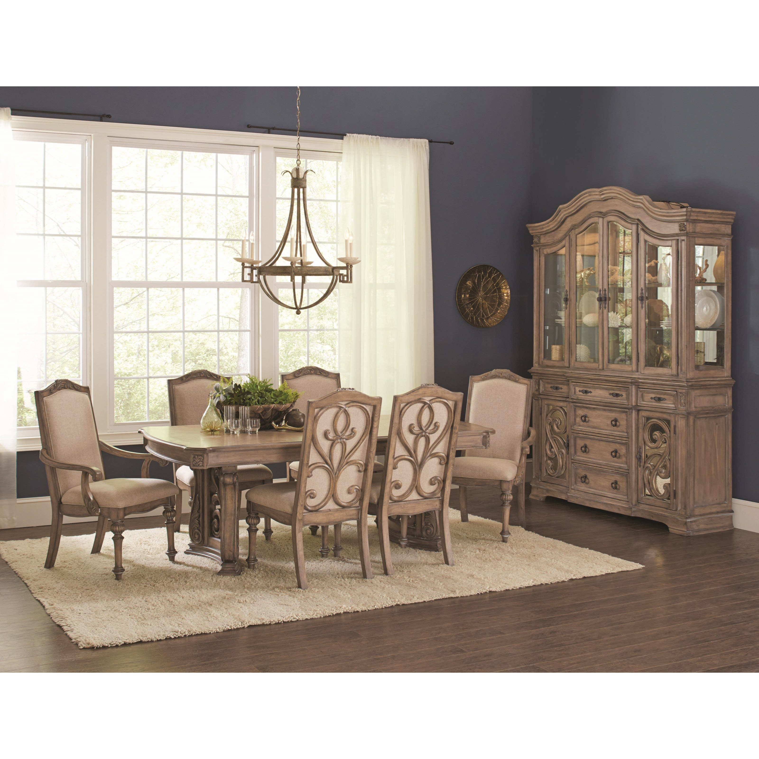 Coaster Ilana Traditional 7 Piece Table And Chair Set With