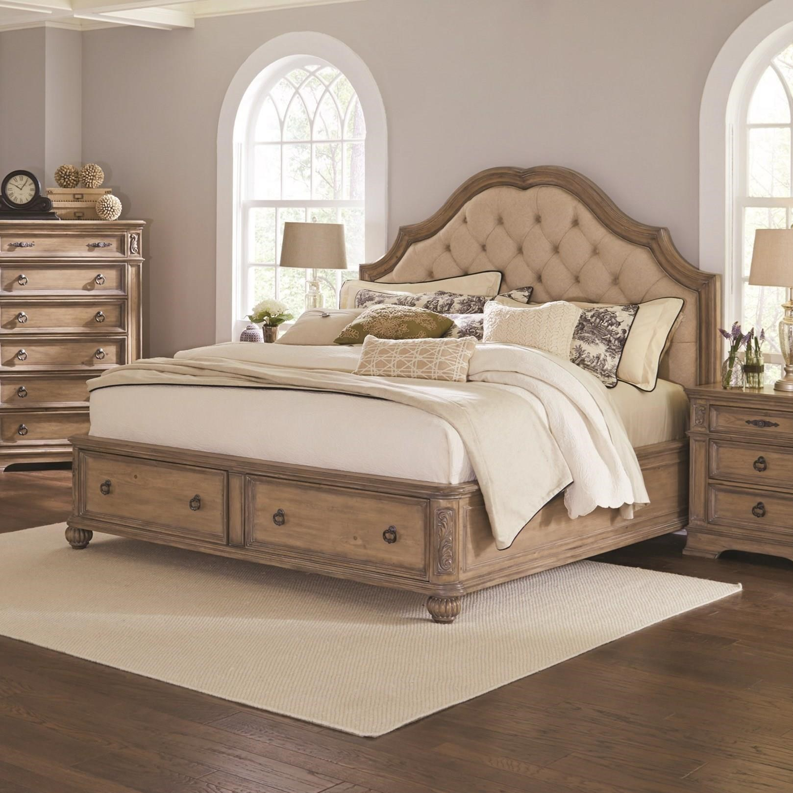 Elegant Queen Storage Bed