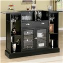 Coaster Inwood Contemporary Bar with Wine Rack and Stemware Storage - Back of Bar Unit Shown