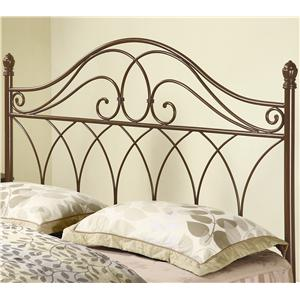 Full/Queen Brown Metal Headboard