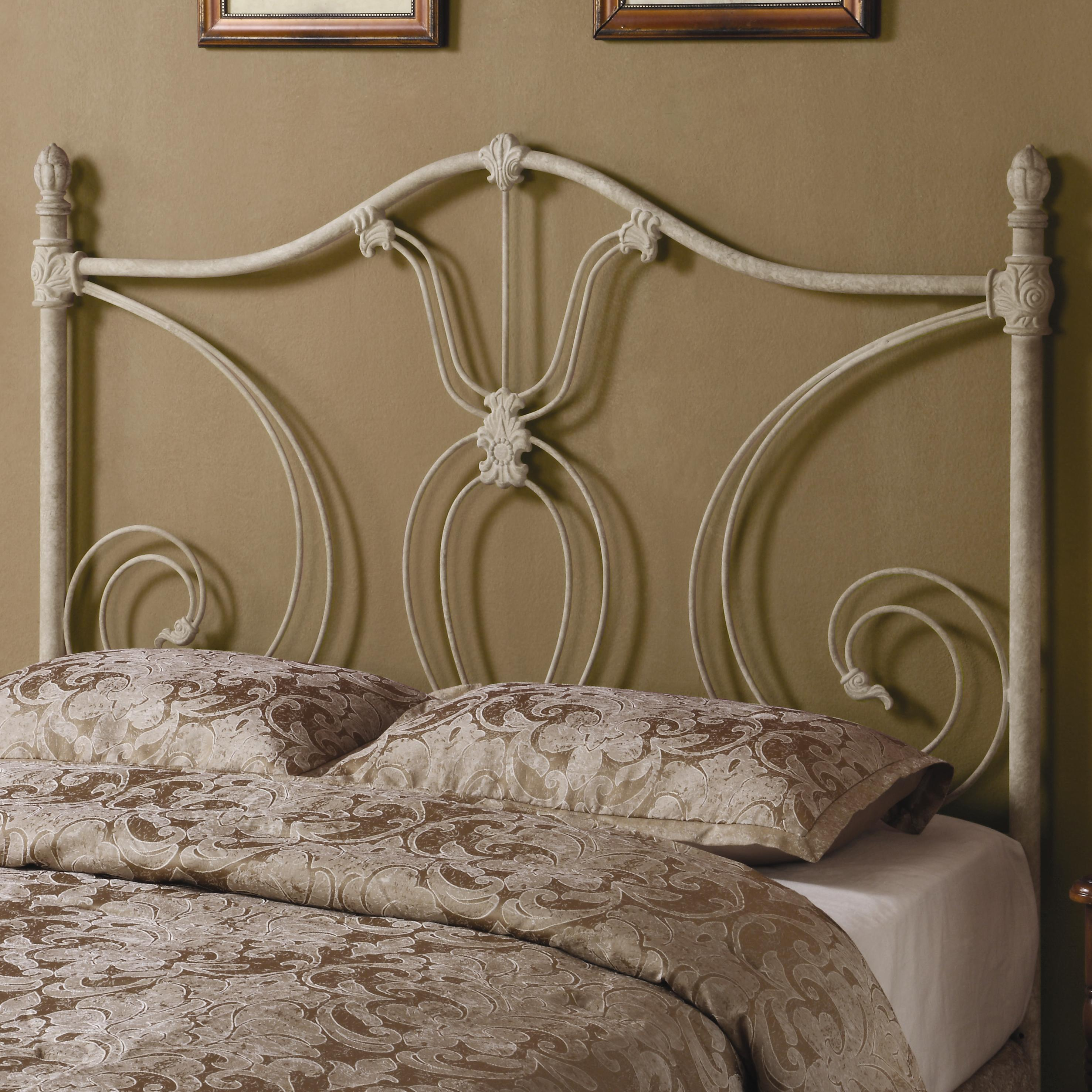 Coaster Iron Beds and Headboards Full/Queen White Metal Headboard - Item Number: 300188QF