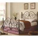 Coaster Iron Beds and Headboards King Iron Bed - Item Number: 300258KE+1209