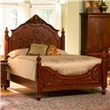 Coaster Isabella King Carved Bed - Bed Shown May Not Represent Size Indicated
