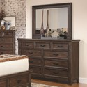 Coaster Ives Dresser and Mirror Combo - Item Number: 205253+4