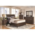 Coaster Ives 6 Drawer Chest with Felt-Lined Top Drawers