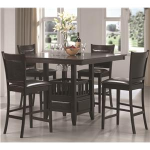 Coaster Jaden Counter Height Table & Stool Set