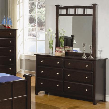 Coaster Jasper Dresser and Mirror - Item Number: 400753+4