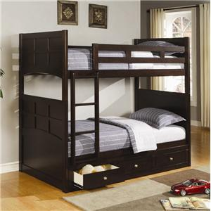 Coaster Jasper Twin Bunk Bed with Storage