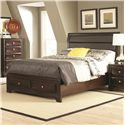 Coaster Jaxson Queen Bed with Upholstered Headboard and Storage Footboard - Bed Shown May Not Represent Size Indicated