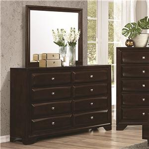 Coaster Jaxson Dresser and Mirror Combo