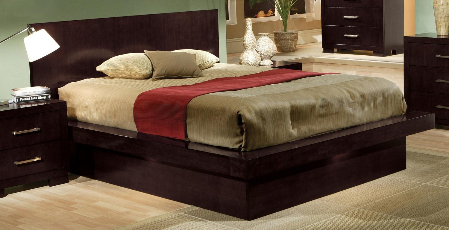 Coaster Jessica California King Platform Bed - Item Number: 200711KW