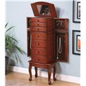 Coaster Jewelry Armoires Jewelry Armoire with Antiqued Hardware - Shown with Sides and Top Open
