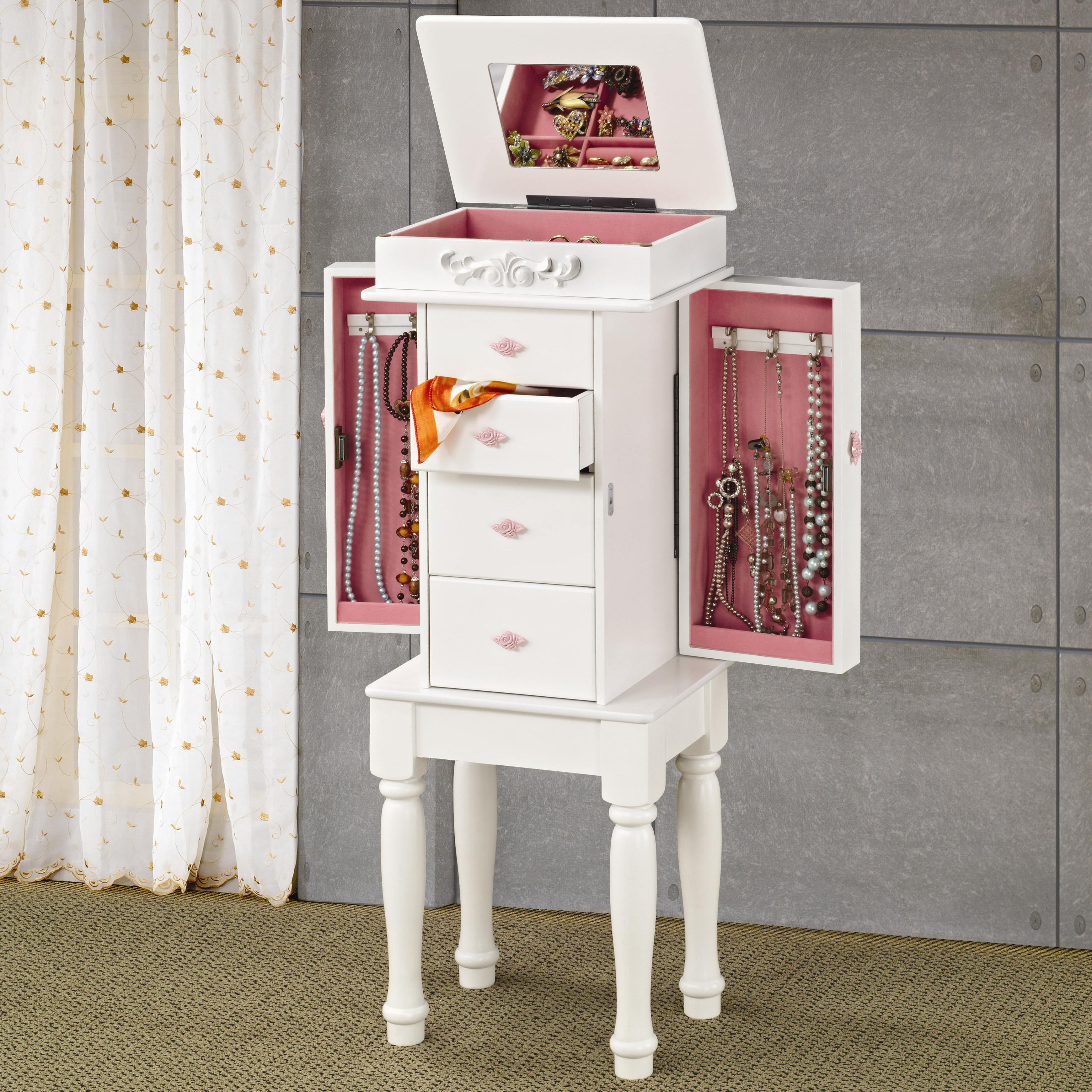 Etonnant Jewelry Armoires White Jewelry Armoire With Pink Hardware By Coaster At  Rotmans