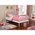 Coaster Jones Twin Bed with Bobbin Motif