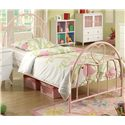 Coaster Juliette Twin Metal Bed with Pink Heart Motifs