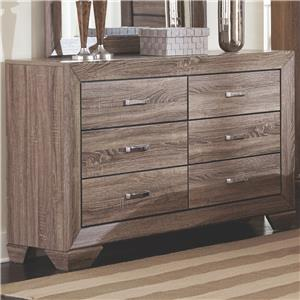 Coaster Kauffman Dresser With 6 Drawers And Tapered Feet