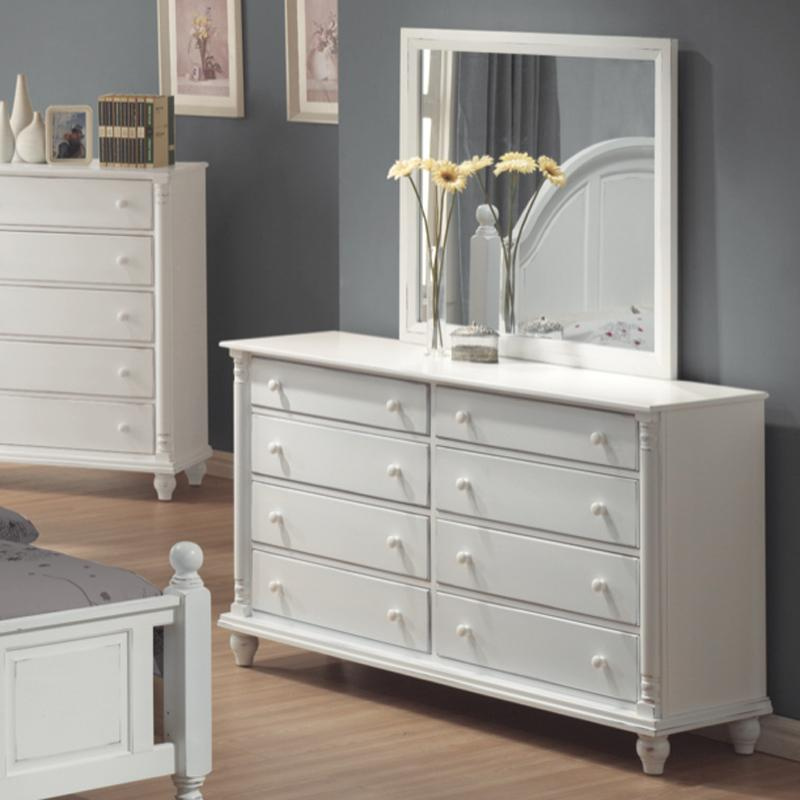 Coaster Kayla Dresser and Mirror - Item Number: 201183+201184