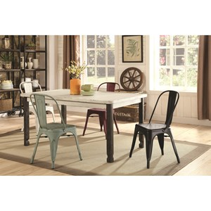 Coaster Keller 5 Piece Rectangular Table and Chair Set